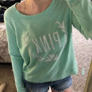 Mint Victoria's Secret Pink Sweater Size Small.